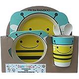 Bambinoco eco friendly natural bamboo fibre dinning sets to make kids mealtimes fun (Bee)