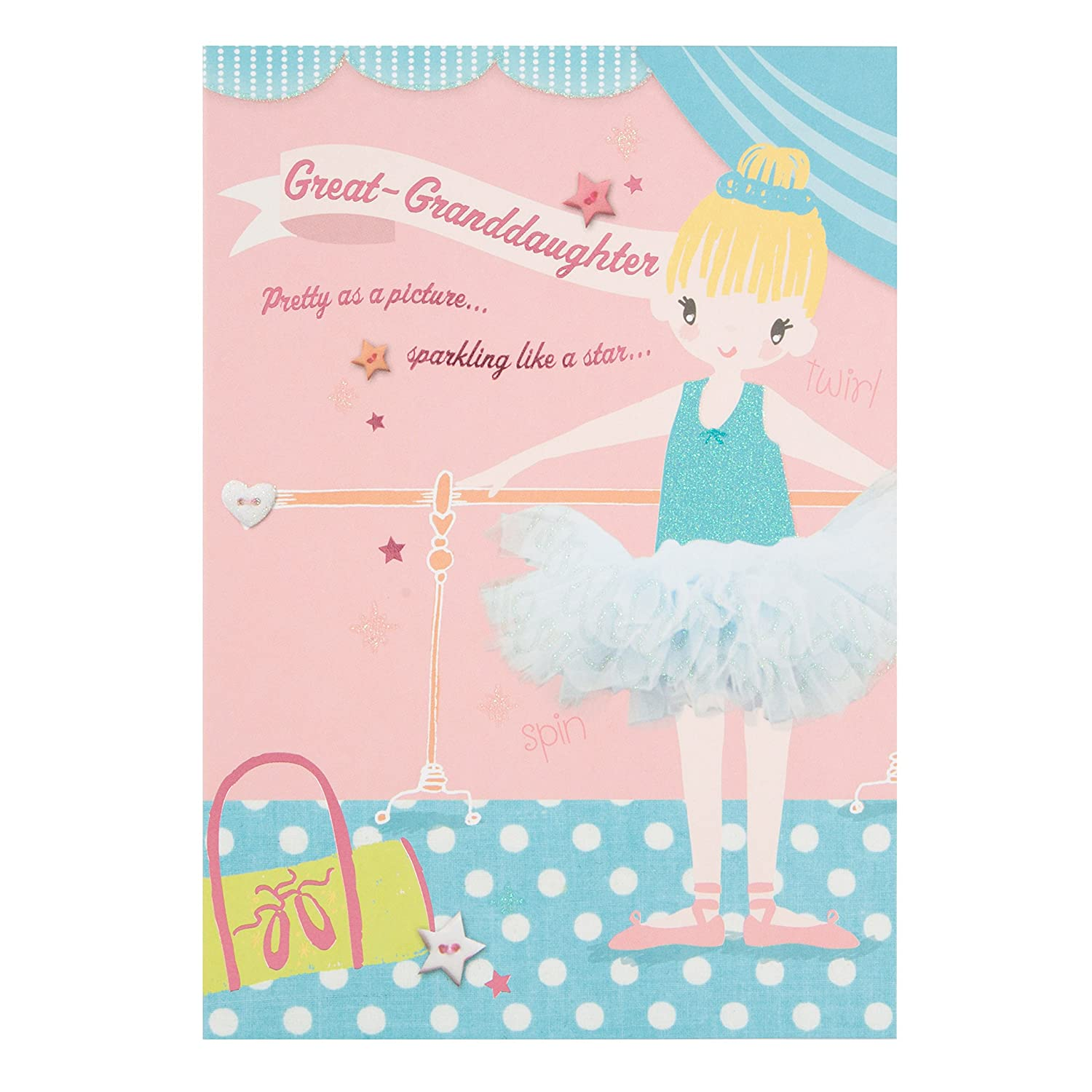 Amazon Hallmark Birthday Card For Great Granddaughter Extra Sweet