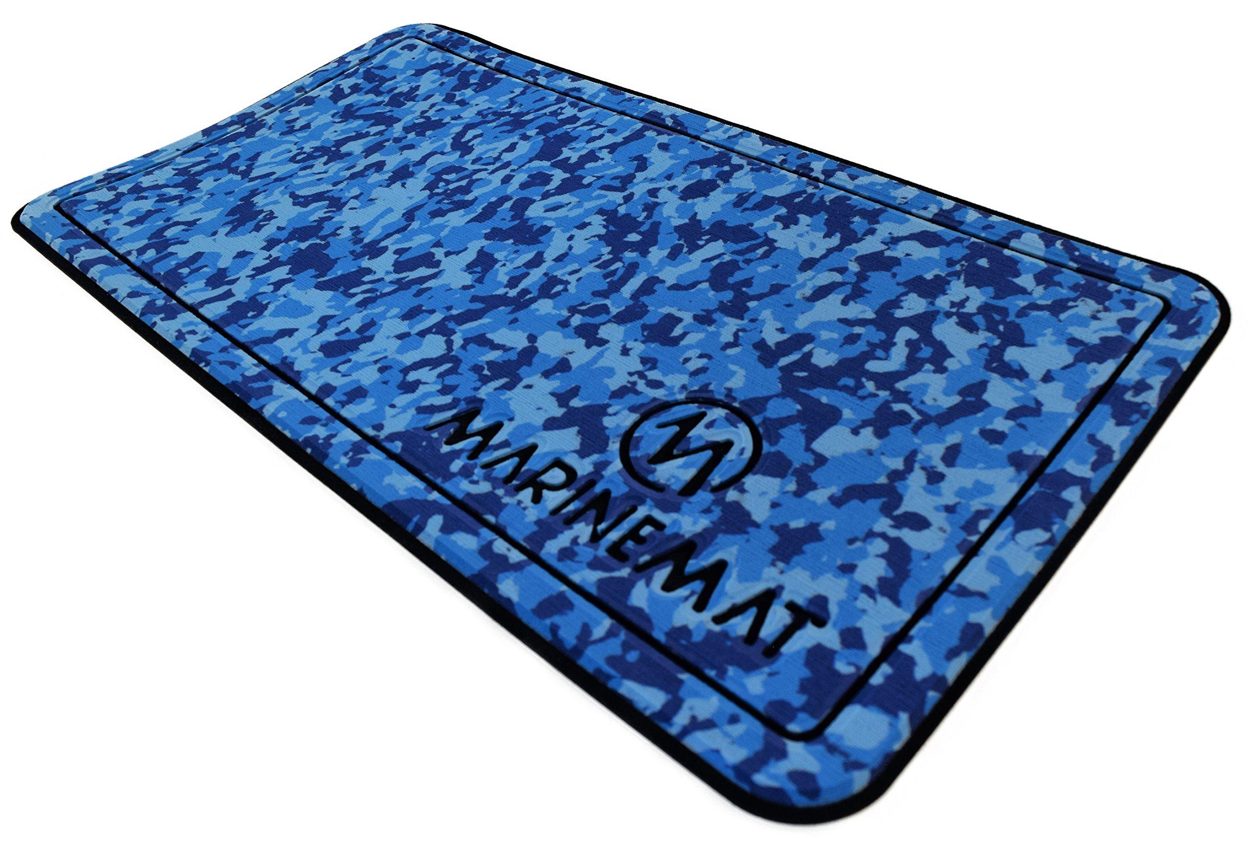 Marine Mat YETI Tundra Cooler Pad (Ocean Camo Over Black, Fits Tundra 65) by Marine Mat