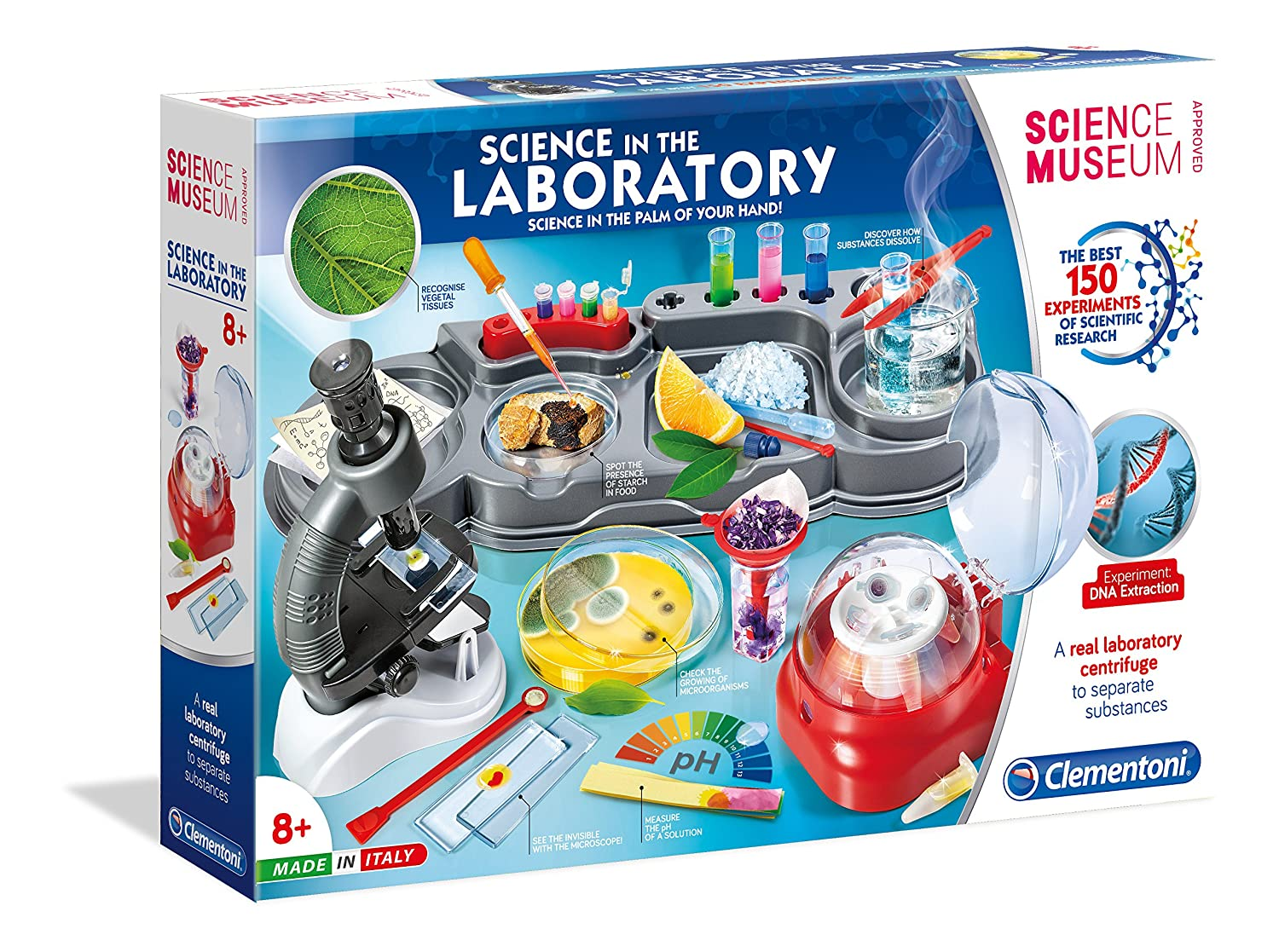 Clementoni Science in The Laboratory Kit | 150 Experiments for Kids | STEM Learning Lab 61756