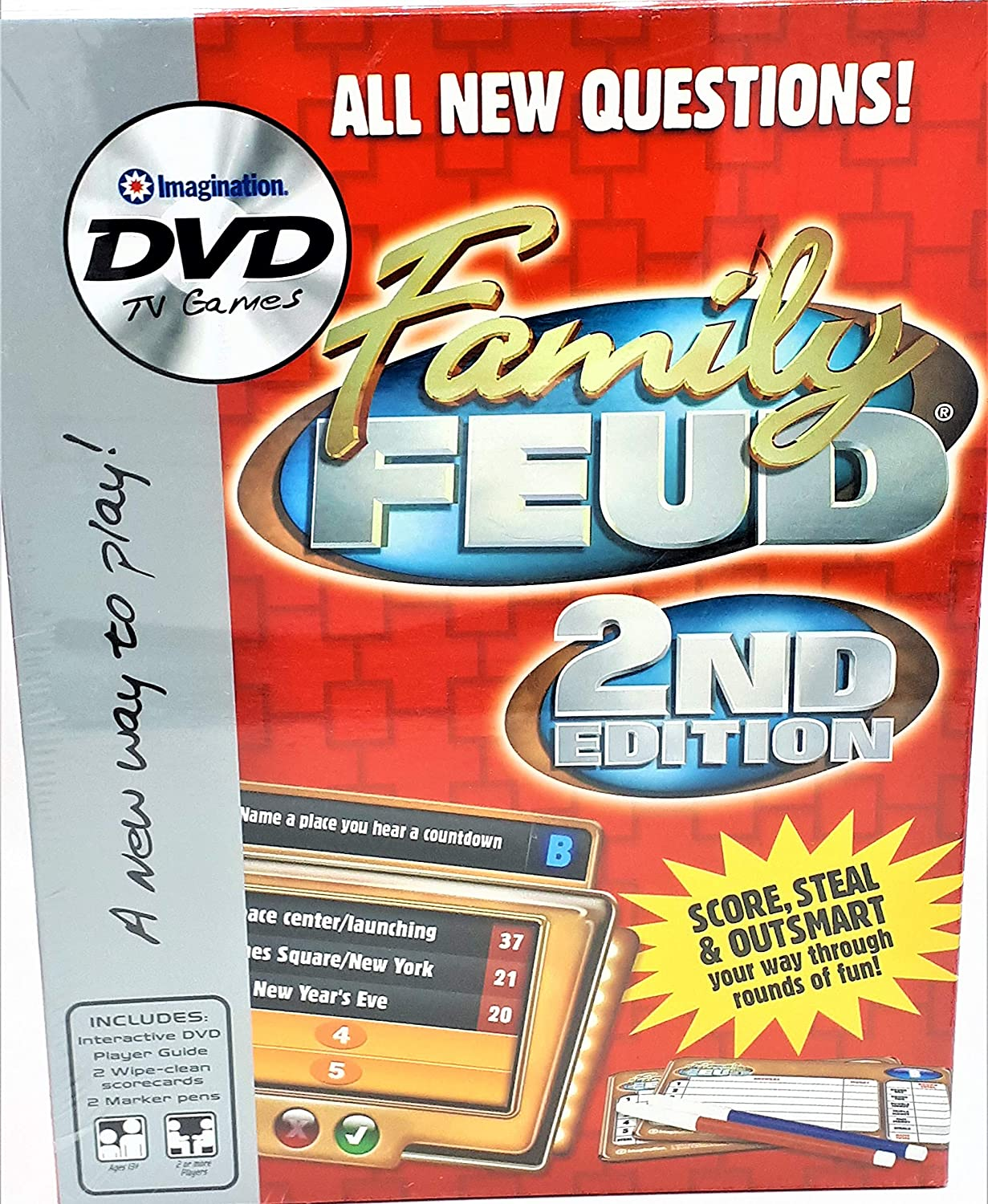Imagination Entertainment Family Feud 2 Edition DVD Game