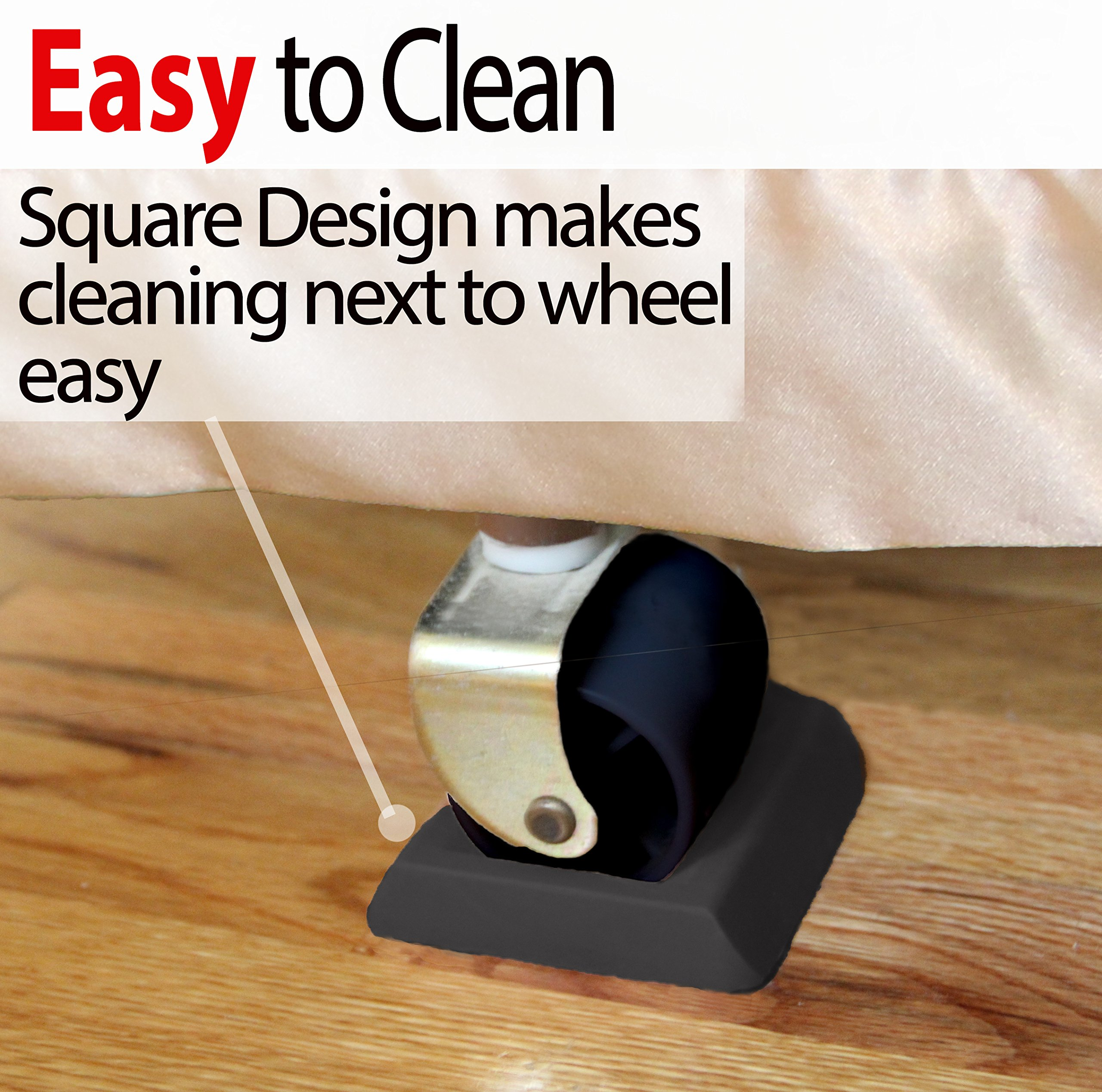 Iprimio Bed Stopper Furniture Stopper U2013 Black Ergo Designed Caster Cups  Fits 818297020485 | EBay