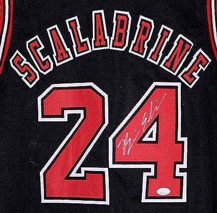 wholesale dealer 85c13 fa797 Brian Scalabrine Chicago Bulls Autographed Custom Black #24 ...