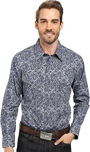 Rock and Roll Cowboy Men's Long Sleeve Snap B2S8422