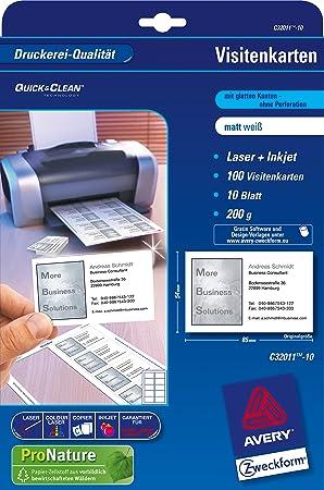 Avery Zweckform C32011 500 Superior Visitenkarten 5 Karten