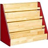 AmazonBasics Single-Sided Wooden Book Display
