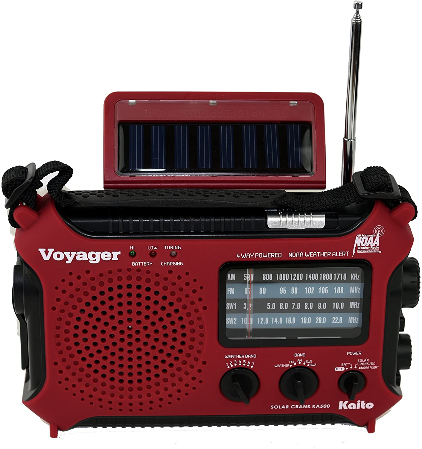 Kaito KA500RED 5-Way Powered Emergency AM/FM/SW Weather Alert Radio, Red: Home Audio & Theater