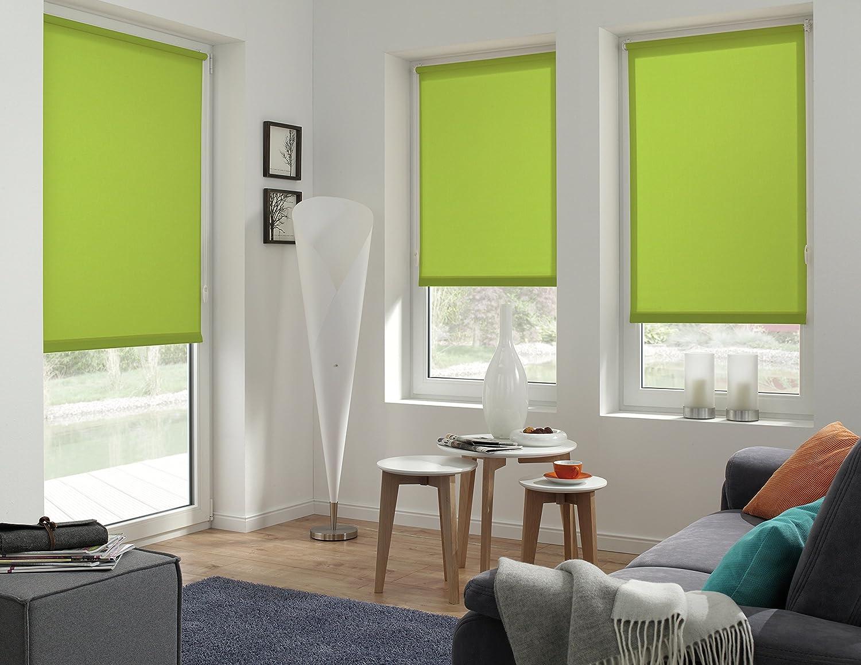 Store pour Lumi/ère du Jour Kit de Montage Inclus Store Uni EASYFIX GARDINIA Store Enrouleur /à Coller ou Clipser LxH Orange 45 x 150 cm Opaque