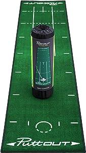 PuttOut Pro Golf Putting Mat - Perfect Your Putting (7.87-feet x 1.64-feet)