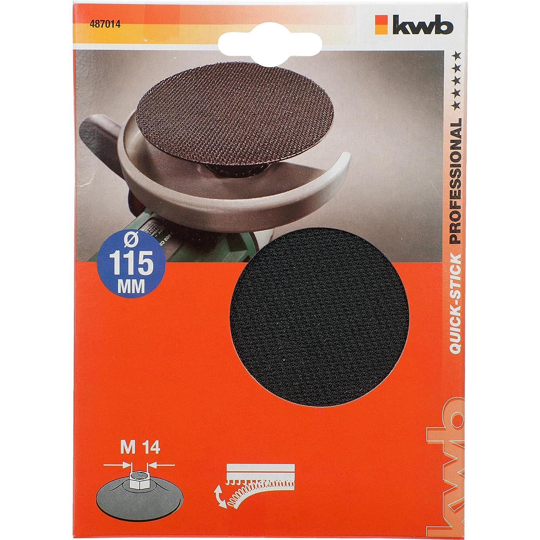 kwb 487014 Placa de lijado accesorio para amoladora angular - Accesorios para amoladoras angulares (Placa de lijado, Universal, 11,5 cm, Negro, 1 pieza(s)) 487-014