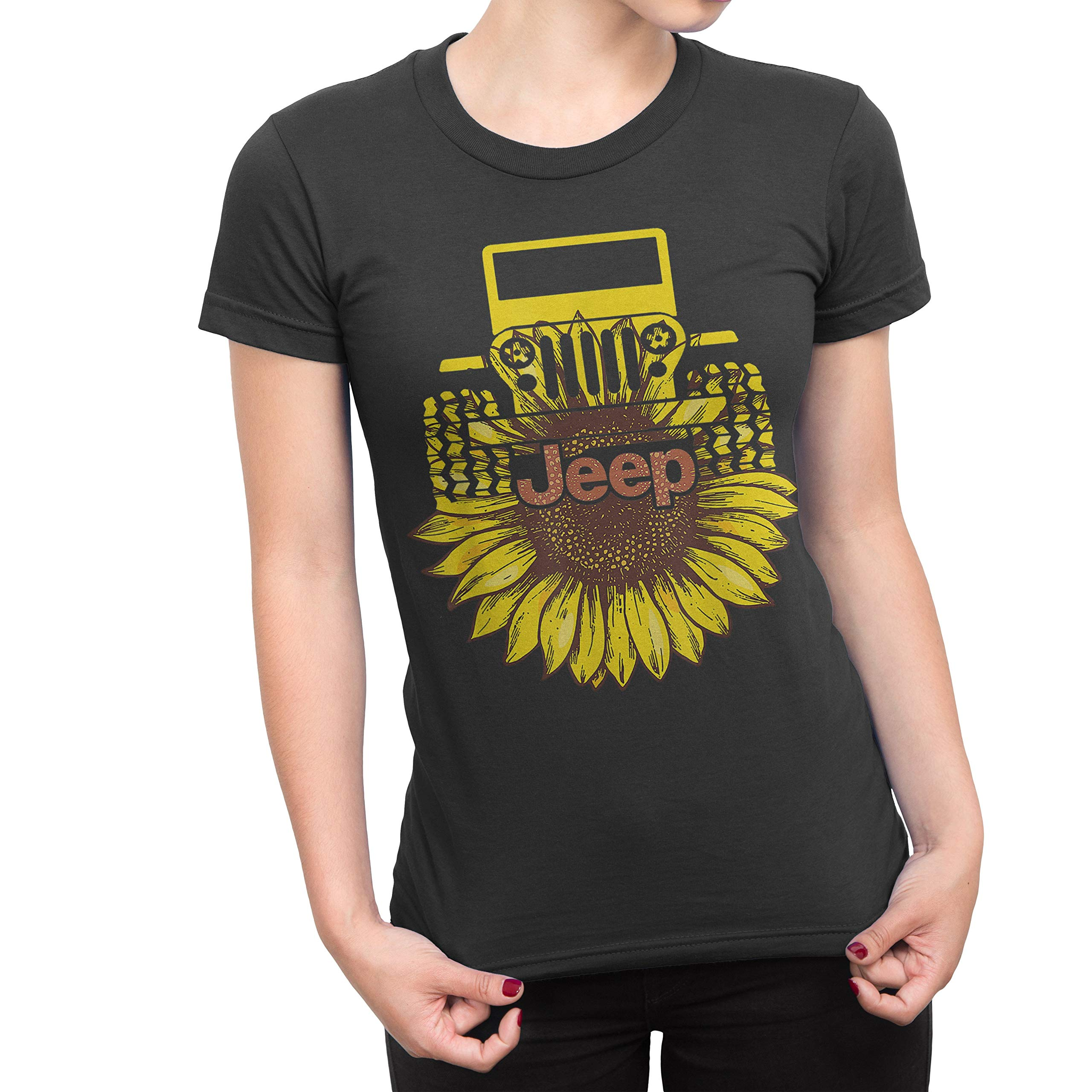 Cool Jeep Sunshine Sunflower Shirt For Girl Jeep Lover Gifts 8855