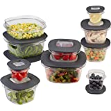 Rubbermaid Premier Food Storage Containers, 20-Piece Set, Grey (1937643)