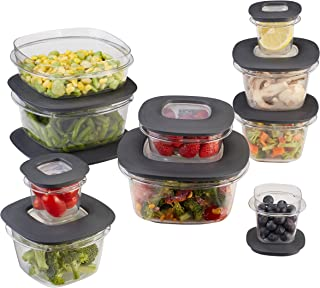 product image for Rubbermaid Premier Easy Find Lids Meal Prep and Food Storage Containers, Set of 10 (20 Pieces Total), Grey |BPA-Free & Stain Resistant