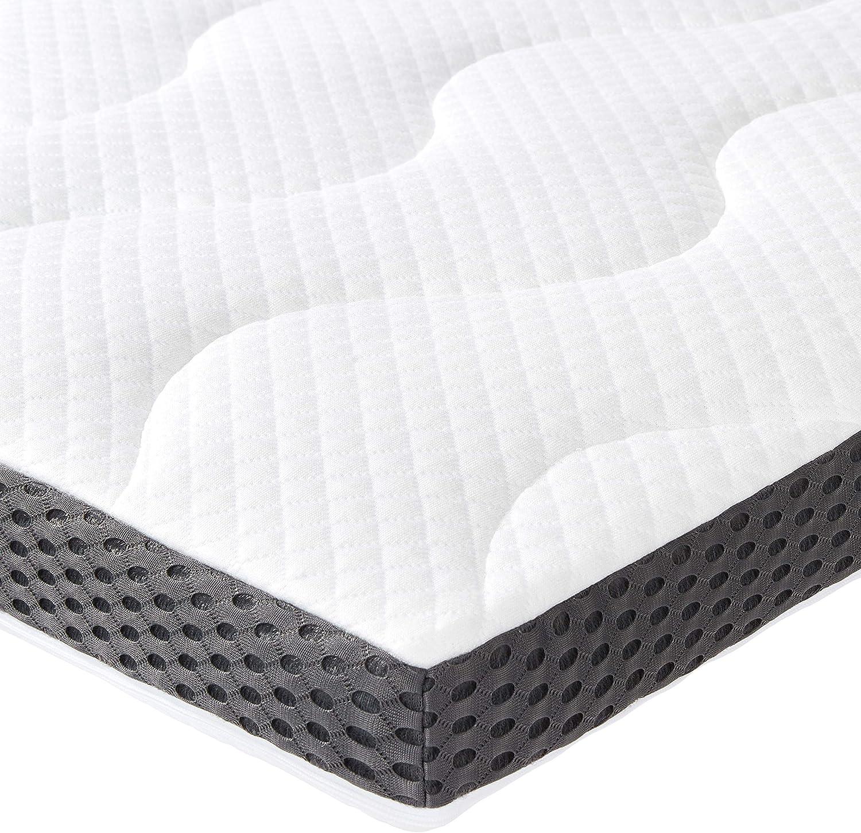 Basics Coprimaterasso in gel e schiuma 80 x 190 cm spessore 7 cm