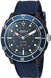 Alpina Men's 'Horological' Quartz Stainless Steel and Rubber Smart Watch, Color:Blue (Model: AL-282LNN4V6)
