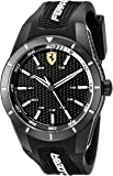 FERRARI MEN'S BLACK DIAL BLACK SILICONE WATCH - 830249