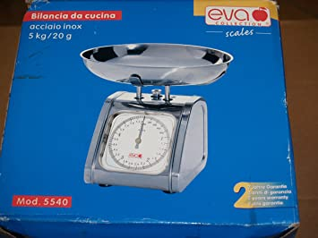 Oferta Eva Collection 033066 Báscula de cocina acero inoxidable 5 kg/20g