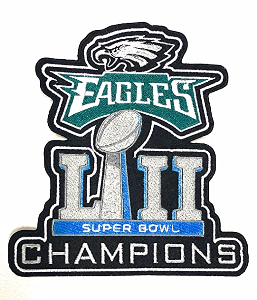 a713f95535d Image Unavailable. Image not available for. Color: Football 2018 Super Bowl  52 LII Eagles Champions Jacket Patch ...