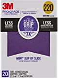 3M Pro Grade No-Slip Grip Advanced Sandpaper, 9 X 11-Inches, 220 Grit, 20/Pack