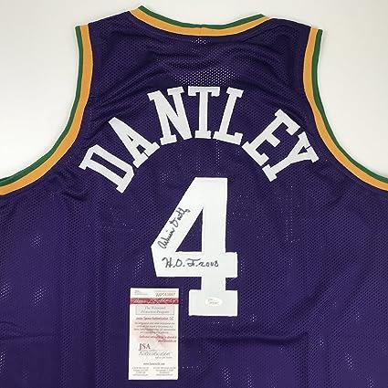 Autographed Signed Adrian Dantley quot HOF 2008 quot  Utah Purple  Basketball Jersey JSA COA 73b71440f