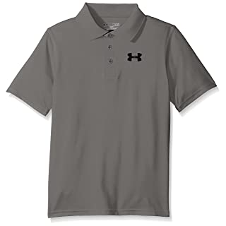 Under Armour Boys' Match Play Polo, True Gray Heather /Black, Youth X-Large
