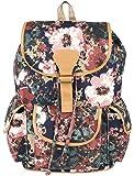 Crafts My Dream Women's Backpack Handbags Beige Rose Print Cmd140165A