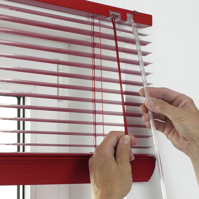 Gardinia 10007318 - Persiana (aluminio, 90 x 175 cm, láminas de 25 mm), color rojo: Amazon.es: Hogar