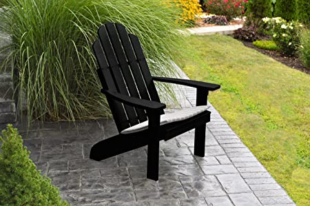 BEST ADIRONDACK CHAIR PORCH FURNITURE PATIO SEATING, Kennebunkport Design Stylish Outdoor Living, Perfect for Front Entry Back Yard, Fire Pit Pool Side, Fun Color Choices Black