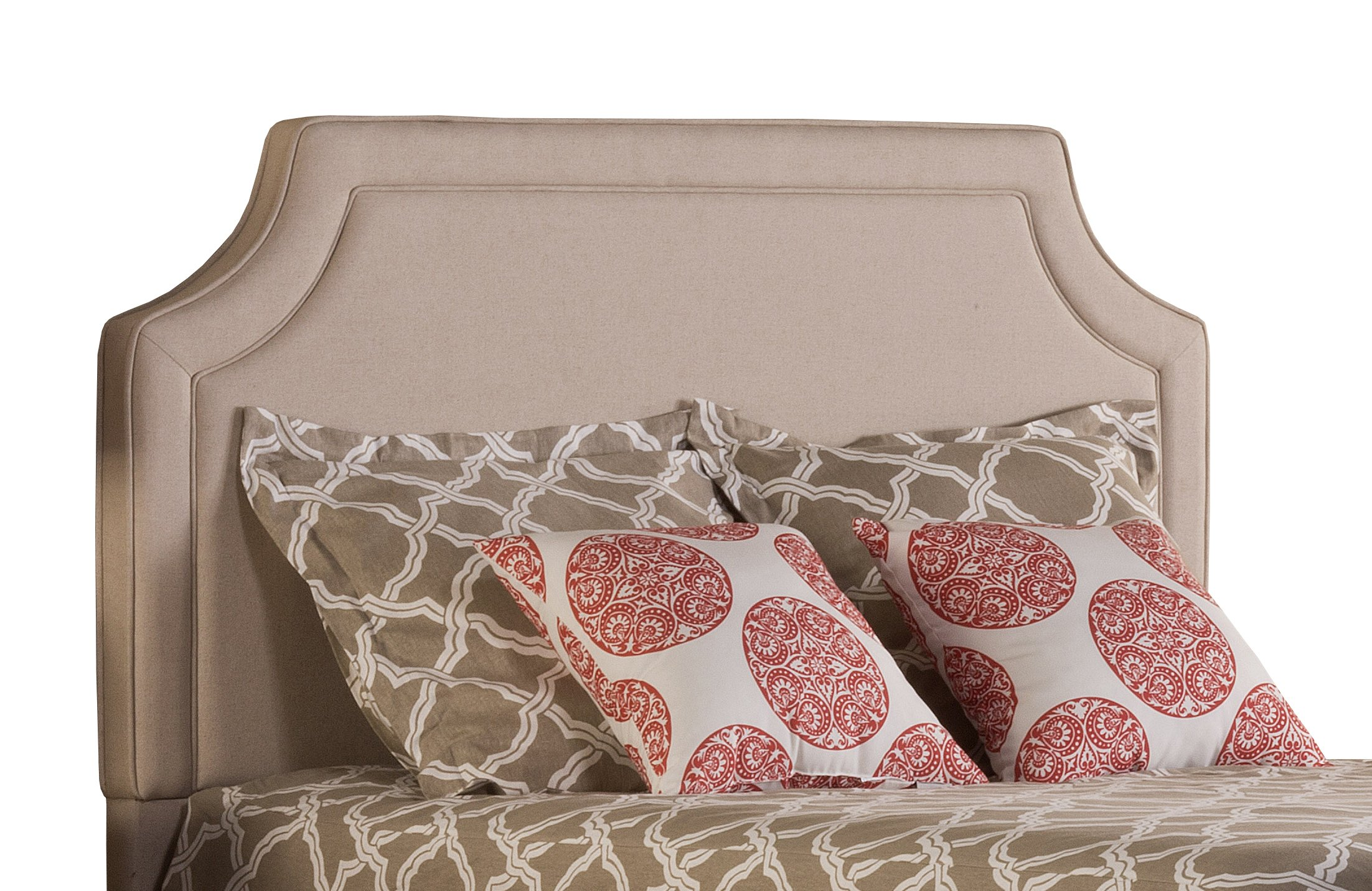 Hillsdale 1322-670 Parker Upholstered Headboard without Frame,King, Linen Stone