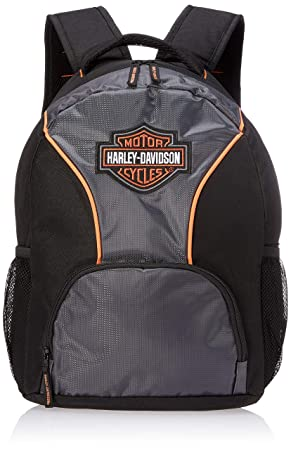 Harley-Davidson Embroidered Bar Shield Colorblocked Backpack, Black 7180609