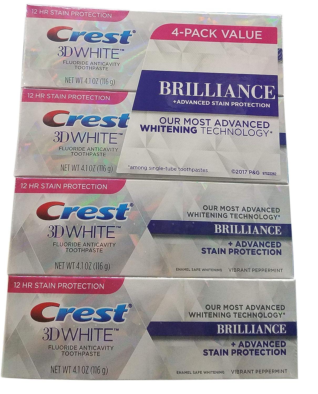 Crest 134691 3D White Brilliance Paste (4 x 4.1 oz), Shape
