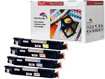 Set de 4 cartuchos de tinta compatibles con HP ColorLaserJet PRO ...