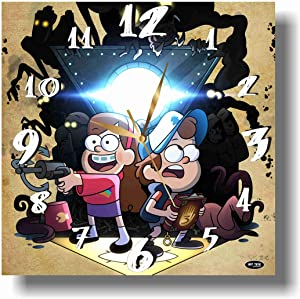MAGIC WALL CLOCK FOR DISNEY FANS Gravity Falls 11'' Handmade Made of Acrylic Glass - Get Unique décor for Home or Office – Best Gift Ideas for Kids, Friends, Parents and Your Soul Mates