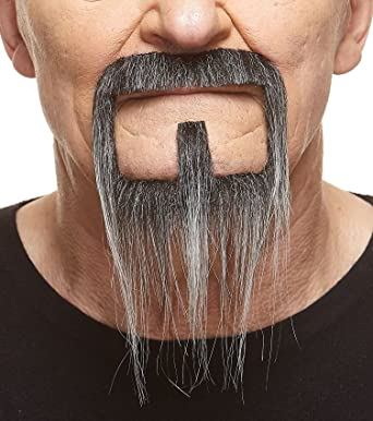 False Facial Hair Novelty Mustaches Self Adhesive Van Dyke Fake Beard Costume Accessory for Adults
