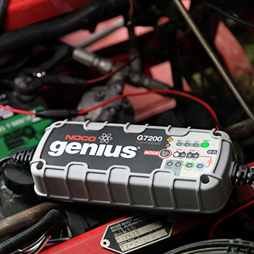 NOCO Genius G7200 is used to charge lithium-ion and lead-acid batteries.