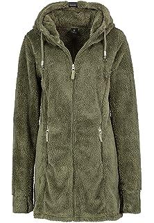 DESIRES Telsa Damen Fleecejacke Teddyfleece Zip Jacke