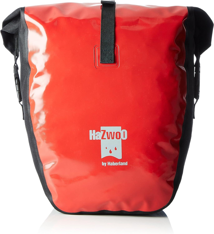 Haberland Fahrradtasche Einzeltasche Hazwoo Paar Wasserdicht Schwarz//Rot HZO150 40