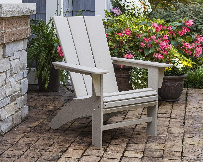 POLYWOOD Modern Curveback Adirondack Chair in Tangerine