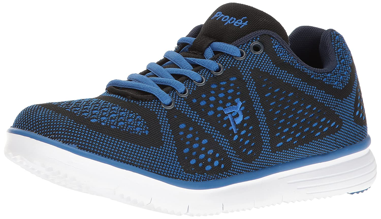 Propet Men's TravelFit Walking Shoe 9 3E US|Black/Blue