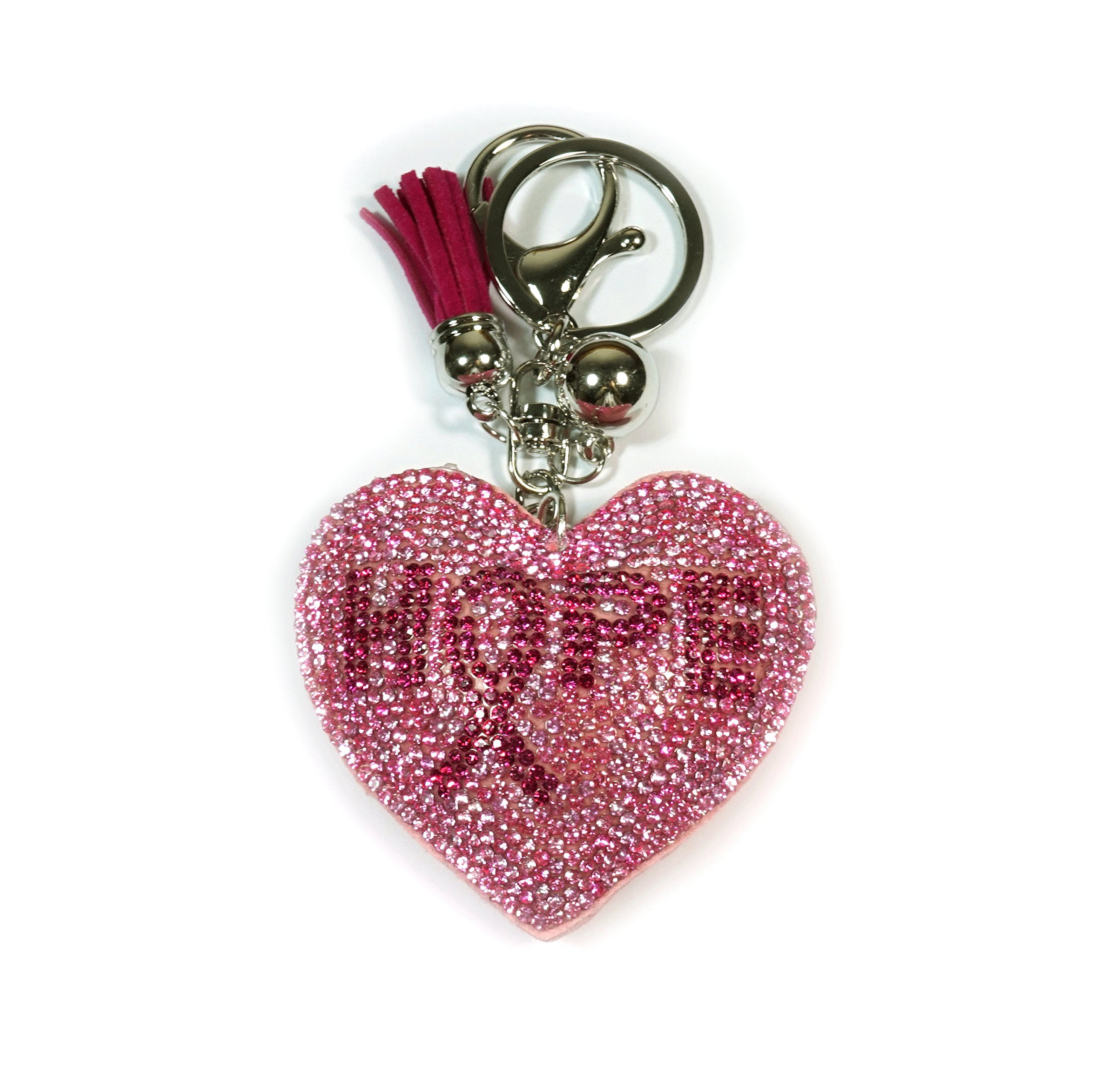 Teri's Boutique Breast Cancer Campaign Hope Pink Heart Women Plush Style Keychain