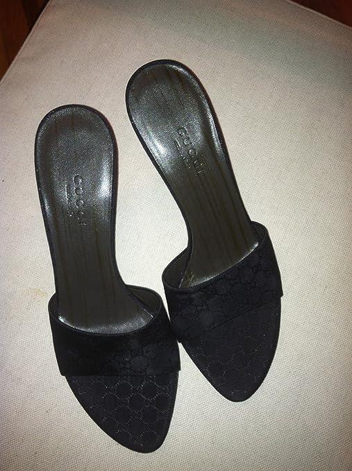Gucci Slide Satin Black Slide Sandals