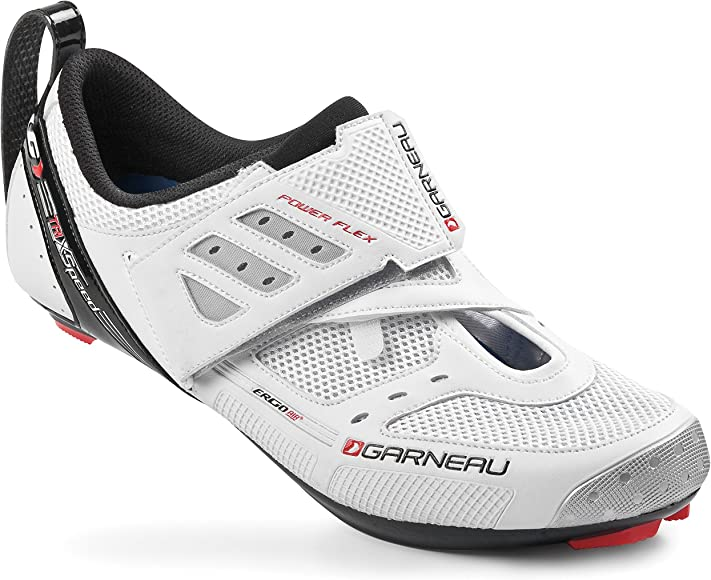 Louis Garneau Tribal triatlón par de Zapatos Color Blanco Blanco Blanco: Amazon.es: Ropa y accesorios