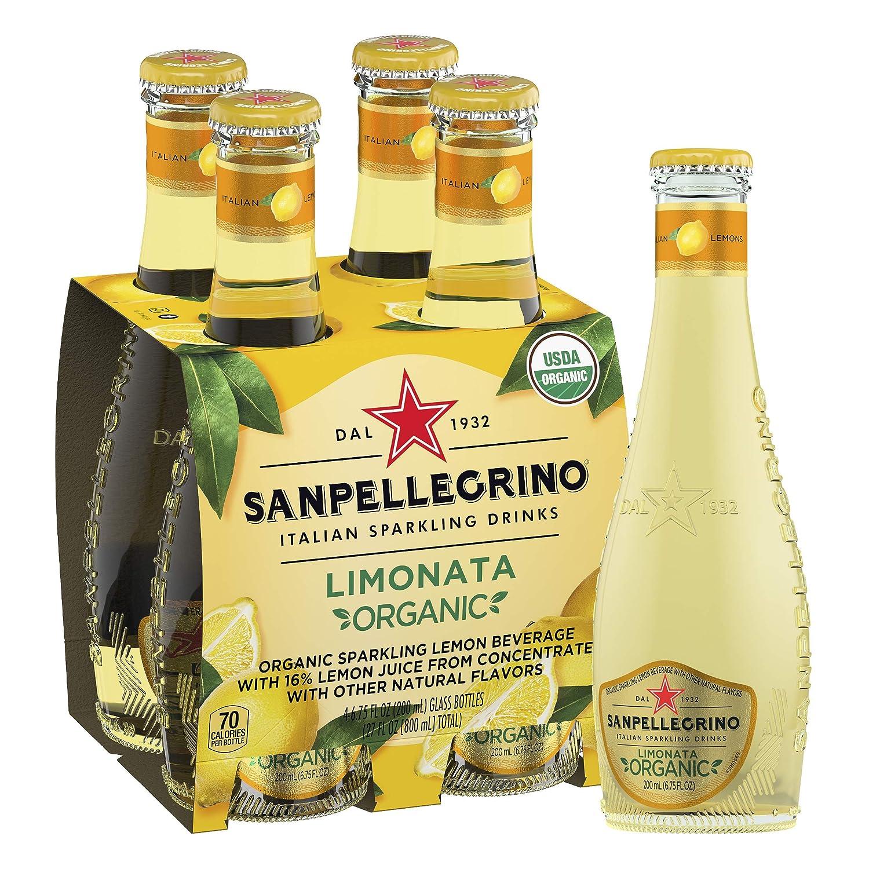 Sanpellegrino Italian Sparkling Drink, Organic Limonata, 6.75 Fluid Ounce, Glass Bottles, (Pack Of 4)