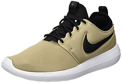 NIKE Women's Roshe Two Khaki/Black/Black/White Running Shoe 5.5 Women US