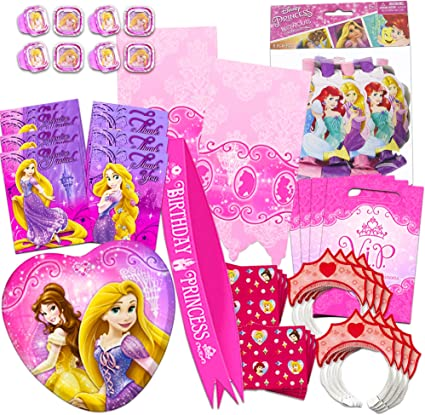 18 Disney Princess Glitter STICKERS Party Favors Birthday Treat Loot Bags