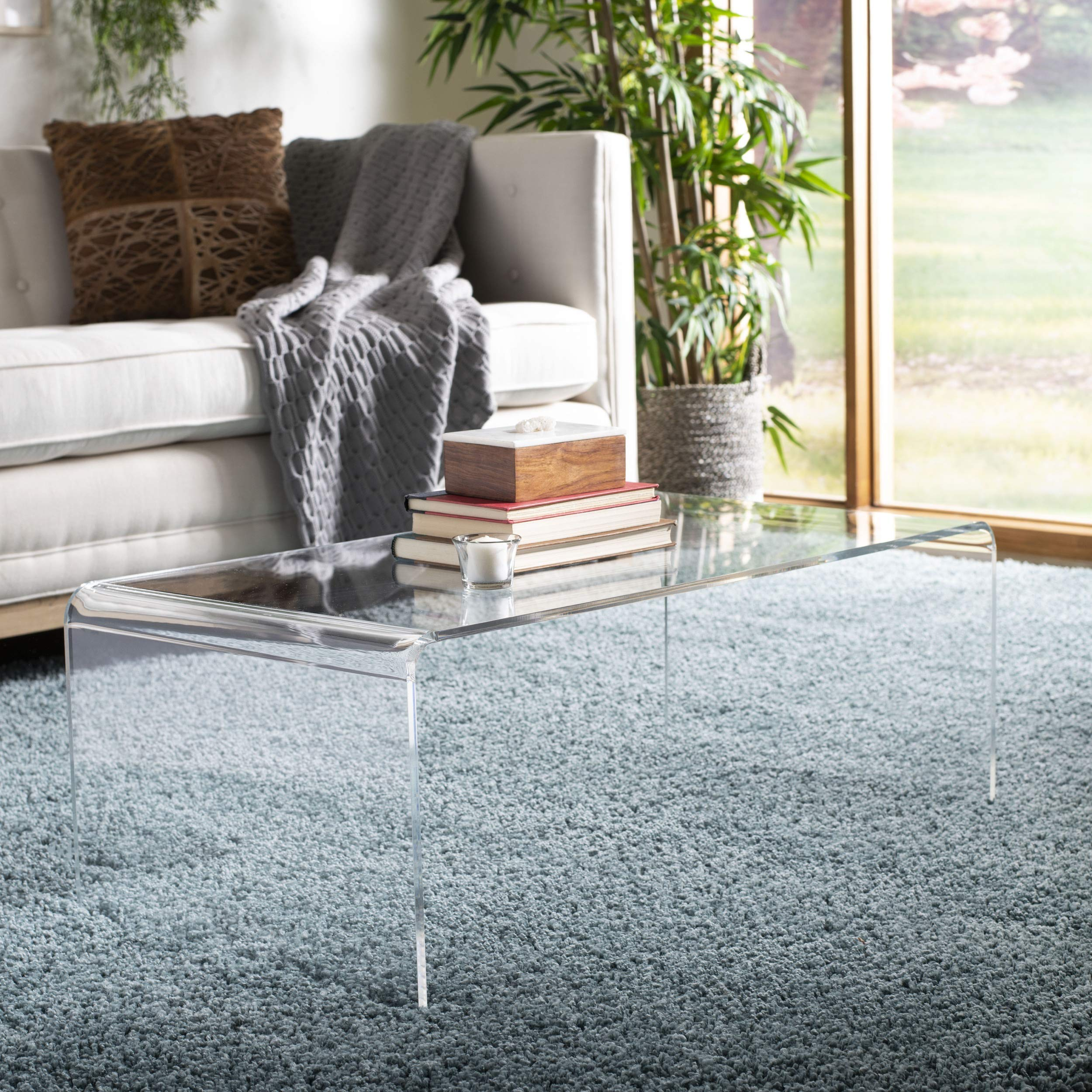 Safavieh FOX6015A Home Collection Atka Coffee Table, Clear by Safavieh