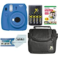 Fujifilm Instax Mini 9 Film Camera + 2-Pk Fujifilm INSTAX Mini Instant Film + Compact Bag Case + Batteries and Battery Charger