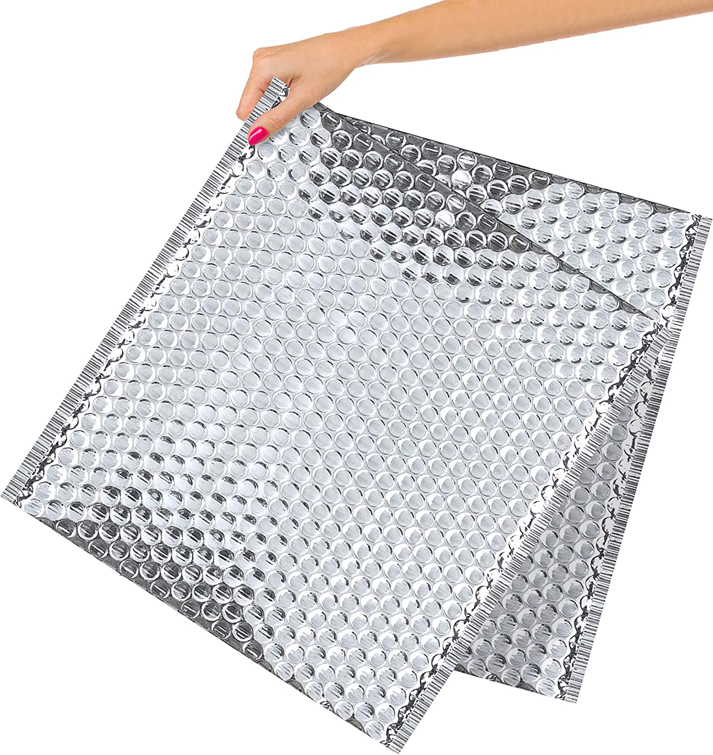 10 Pack Cool Shield Bubble Mailers 15x17. Thermal padded envelopes 15 x 17. X-Large cushion food mailers. Peel and Seal. Thermal shipping bags for mailing, packing. Packaging in bulk, wholesale price.
