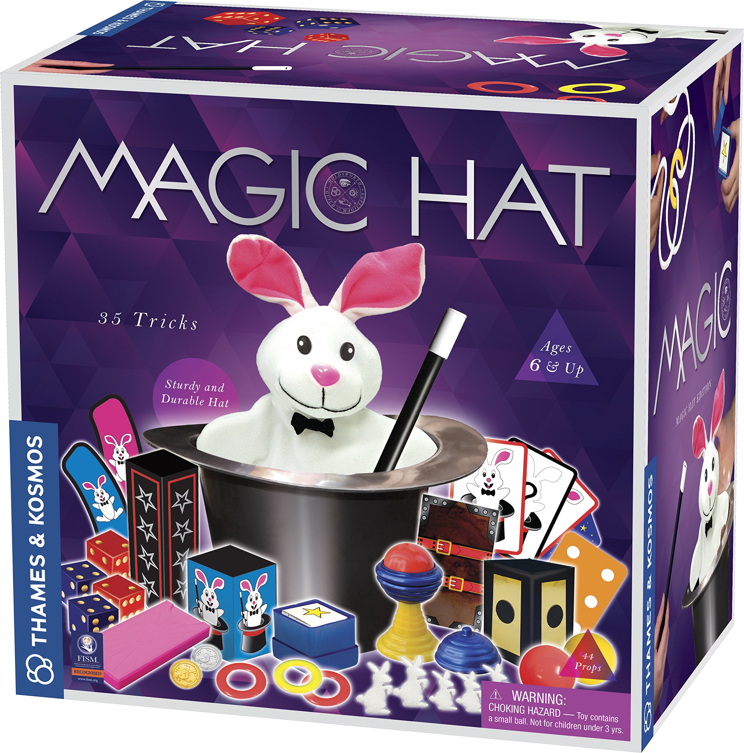 Thames & Kosmos Magic Hat with 35 Tricks | 24-Page Illustrated Instruction in Full Color | for Magicians Ages 6+ by Thames & Kosmos