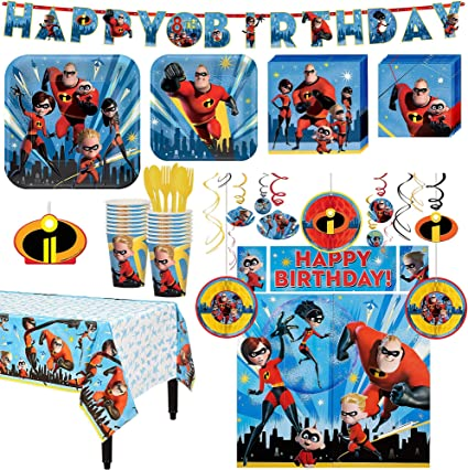 Amazon.com: The Incredibles - Kit de 2 cumpleaños para ...